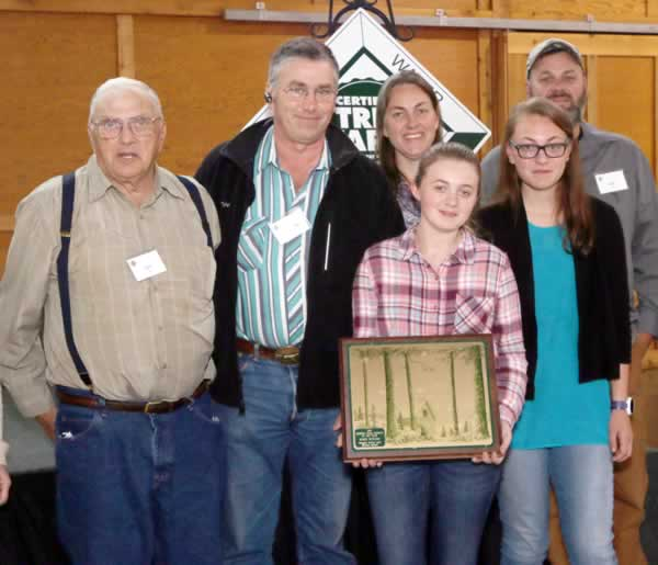 Oakes family Outstanding Tree Farmer of the Year